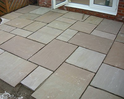RAJ GREEN SANDSTONE PAVING PATIO SLABS