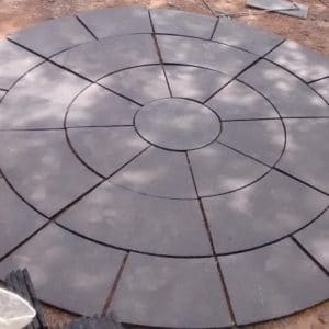 BLACK LIMESTONE CIRCLE SETS