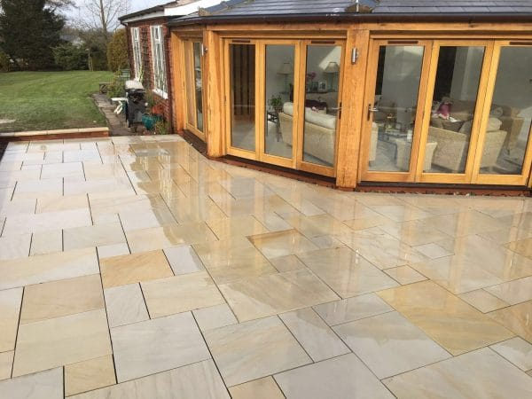 RAJ GREEN SAWN SMOOTH SANDSTONE PAVING