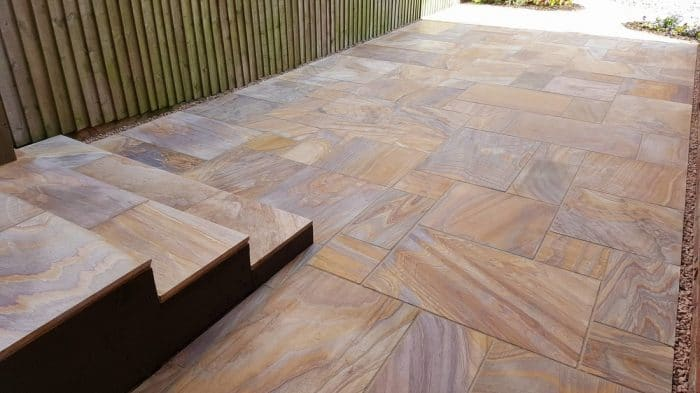 RAINBOW SANDSTONE PAVING
