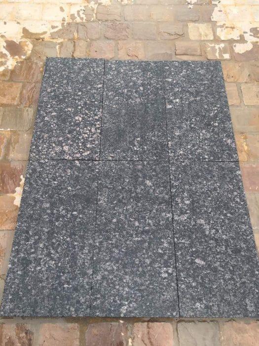 BLACK PEARL FLAMED GRANITE PAVING SLABS