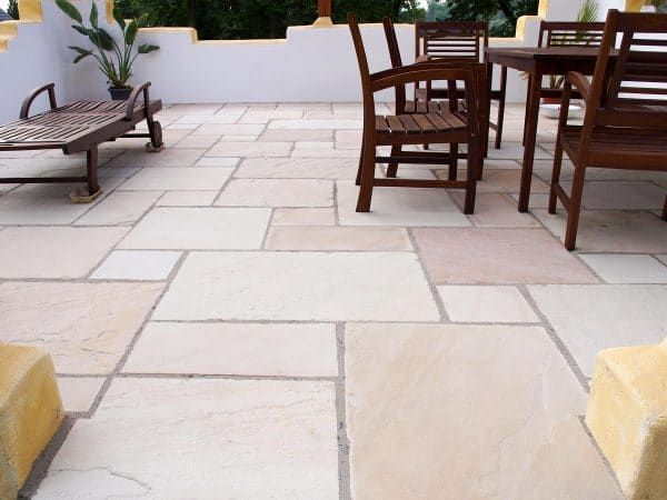 MINT FOSSIL SANDSTONE PAVING